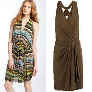 DIANE VON FURSTENBERG Moritzi Olive Green Dress